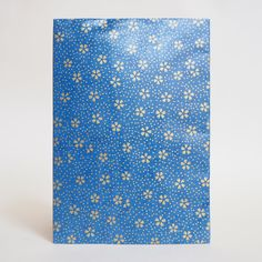 Japanese Yuzen Washi Card Holder - Small Gold Cherry Blossom Blue Japanese Minimalism, Oyster Card, Travel Cards, Japanese Patterns, Unique Cards, Japanese Culture, Card Holders, Pattern Paper, Red Gold