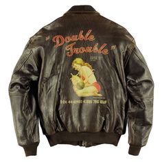 Double Trouble Pinup Leather Jacket