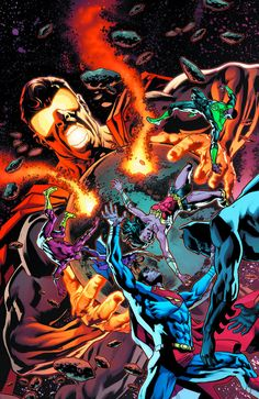 DC comics for March this is the cover for Justice League drawn by Bryan Hitch. Arte Dc Comics, Batman Comics, Gotham High, Bryan Hitch, Comic Art Community, Silver Age Comics, American Comics, Comic Book Covers, Comic Books
