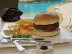 Jalapeno and cheese burger..