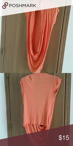 Sale! Orange dress top Only worn once. Top is open in the front to wear with a cami. Stretchy and comfortable. Offers welcome. Charlotte Russe Tops