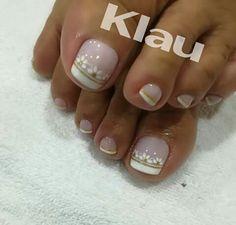 Cute Toenail Designs, Toe Nail Designs, Acrylic Nail Designs, Acrylic Nails, French Pedicure, French Nails, Drip Nails, Feet Nails, Girls Nails