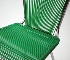 Chaise 'Fils' - Scoubidou Vert - Années 50-60