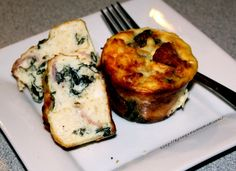 Spinach Feta Muffins Shared on https://www.facebook.com/LowCarbZen | #LowCarb #Eggs #Breakfast #Lunch