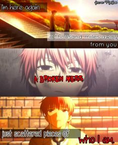 Anime: Angel Beats  Song: Pieces (Red)