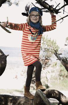 Mini Boden 'Logo' Stripe Dress (Little Girls & Big Girls)   Nordstrom