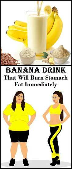 Banana Drink That Will Burn Stomach Fat Immediately - NZ Holistic Health Burn Stomach Fat, Flat Stomach, Stomach Fat Burning Foods, Flat Tummy, Flat Belly, Bodybuilding, Banana Drinks, Lose Weight, Weight Loss