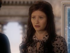 Belle's Floral Tie Neck Dress on Once Upon A Time