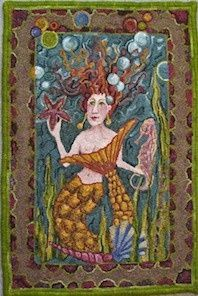 Hooked Rug ... Mermaid ... Pris Buttler | Rug Hooking | Pinterest