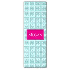 Aqua Greek Personalized Yoga Mat