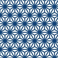 asanoha in kyanite fabric by chantae on Spoonflower - custom fabric    #monacoblue