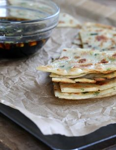 Get this well-tested recipe for Gluten Free Scallion Pancakes with dipping sauce. Just like at the Chinese restaurant—but gluten free! Gf Recipes, Gluten Free Recipes, Asian Recipes, Cooking Recipes, Healthy Recipes, Scallion Pancakes, Gluten Free Restaurants, Sesame Oil, Banting