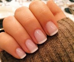 All girls like beautiful nails. The first thing we notice is nails. Therefore, we need to take good care of the reasons for nails. We always remember the person with the incredible nails. Instead, we don't care about the worst nails. French Manicure Designs, Short Nail Designs, French Manicure Short Nails, French Pedicure, Acrylic French Manicure, Short French Nails, White Tip Nails, Bridal Nails French, French Tip Toes