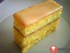Recept na lahodné pomarančové rezy.Suroviny sú v ml nie gramoch. Pomarančové rezy sú veľmi obľúbené. Sú poliate sladkou cukrovou polevou a s lahodným krémom Sweet Desserts, Just Desserts, Sweet Recipes, Cake Recipes, Dessert Recipes, Czech Recipes, Orange Slices, Vanilla Cake, Baked Goods