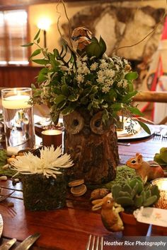 Woodland themed rustic baby shower at Dubsdread Catering. Heather Rice Photography.