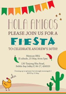 Mexican party invite
