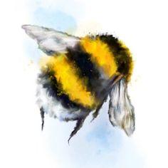 Bumble Bee Tattoo, Art Aquarelle, Watercolor Art, Animal Watercolour, Sister Tatto, Skull Tatto, Aquarell Tattoos, Bee Painting, Bee Gifts