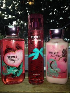New Bath and Body Works Velvet Sugar Body Wash, Mist , & Body Lotion