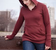 Option B, non-overlapping hoodDisparate Disciplines Sewing Patterns