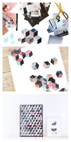 Paper Collage Template - FRK Hansen