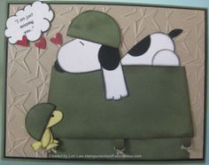 Snoopy Missing You... punched art card