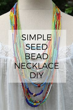Seed bead necklace DIY