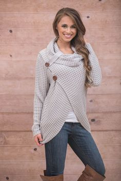 The Pink Lily - Natural To Me Cowl Neck Sweater, $46.00 (https://pinklily.com/natural-to-me-cowl-neck-sweater/?utm_content=buffera9fa6