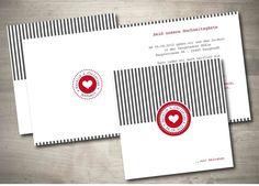 Einladungskarte Hochzeit - Streifenliese von Mazet Design auf DaWanda.com