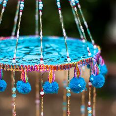 Turquoise wind chimes by RonitPeterArt on Etsy