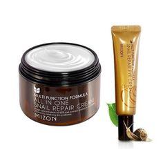 MIZON All In One Snail Cream 120ml Super Size + Snail Eye Cream Tube 15ml Skin Care Face Cream Antiaging anti wrinkle Eye Cream