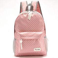 af149e5df2f 2017 lovely dot printing backpacks for teenage girls designer soft nylon  backpack for children school bags portfolio for teens   discountdesignerbackpacks