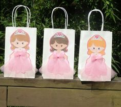 Items Similar To Princess Party Favor Bags Goo Birthday 12 On Etsy