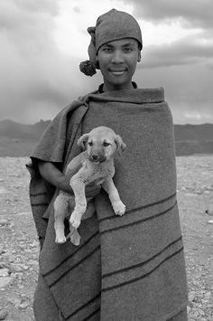 Marie-Marthe Gagno, The Shepherd's Puppy,  Lesotho. BelAfrique your personal travel planner - www.BelAfrique.com