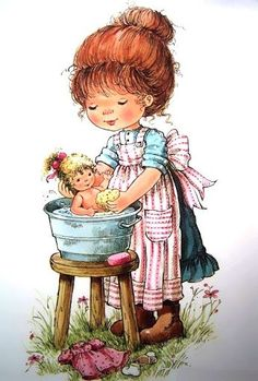 Mary may / sarah kay. Holly Hobbie, Vintage Pictures, Baby Pictures, Cute Pictures, Mary May, Art Mignon, Pintura Country, Cute Images, Illustrations