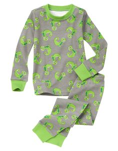 Dino-mite! Allover dino print adds fun to our super comfy cotton pajamas @Gymboree