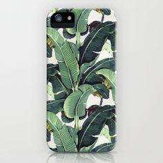 Tropical Banana Leaf Print iPhone & iPod Case by Chloe Vaux - $35.00