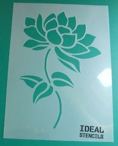 Lotus flower art stencil Floral stencil Home decor stencils Stencil Patterns, Stencil Designs, Wall Patterns, Stencil Painting On Walls, Fabric Painting, House Painting, Kirigami, Spray Paint Furniture, Painted Furniture