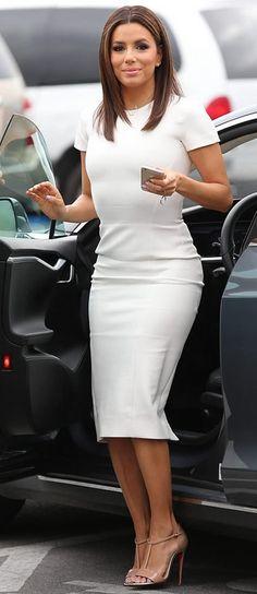 ♥Eva Longoria in a Clingy Pencil Dress
