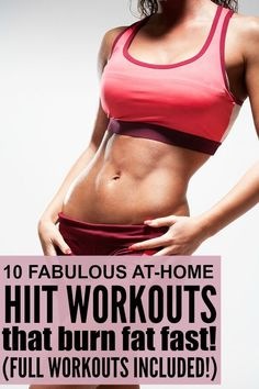 If youre starting to see a plateau in your weight loss efforts and want some new and effective at home workouts for women that will help you increase your metabolism and burn fat fast, give one of these HIIT workouts for beginners a try! Full workouts inc Hiit Workouts For Beginners, At Home Workouts For Women, Ab Workouts, Elliptical Workouts, Aerobic Exercises, Short Workouts, Training Workouts, Training Plan, Fitness Workouts
