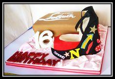 Loboutine cake and shoe