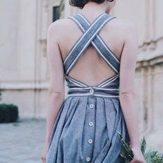 The back of this dress