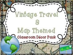 This is a map and travel theme pack for classroom use.  Check out the Preview for view of the materials.In it includes...- An editable vintage suitcase behavior chart- Calendar Materials- Nametags- I Wonder Wall Sign- Two Welcome Signs- Hall Passes- D'Nealian ABC Posters- Word Wall Letters- Table Numbers for 8 tables- Student numbers up to 35- Classroom Rule Sign- Clock SignsJust looking for an editable vintage travel themed behavior chart?