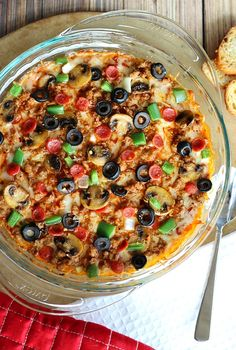 Hot Pizza Dip. This will be THE hit at the appetizer table.