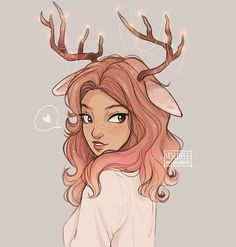 Instagram photo by itslopez - Needed to de-stress so here's a deer girl I also wanted to try out clip studio paint, so many of you said it's really good so I wanted to give it a shot! I am still too used to photoshop but with some practice and time I hope I'll get the hang of it soon (I did this illustration with clip studio paint btw!)