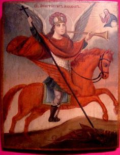 Архангел Михаил-ангел апокалипсиса, Белоруссия, начало 19 века, ч.с.