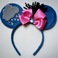 Items similar to Eeyore Mouse Ears, Theme Park Ears, Mickey Ears, Minnie Ears Headband *Ready to ship* on Etsy Diy Mickey Mouse Ears, Disney Ears Headband, Disney Headbands, Disney Mickey Ears, Disney Bows, Ear Headbands, Disney Diy, Disney Crafts, Disney Land