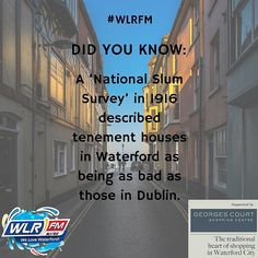 Waterford's housing situation 100 years ago is our #WLR1916 topic today. Listen in across the day to learn more! #Waterford #Ireland1916