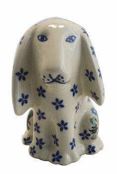 UNIKAT Signature Exclusive Miss Daisy Pattern! Polish Pottery Piggy Ornament
