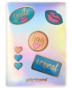"""Whether you're keeping a journal or tracking a to-do list, do it with fashionable flair with this iridescent notebook from Betsey Johnson xox Trolls. 