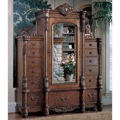 pulaski edwardian mans armoire - 3 pieces